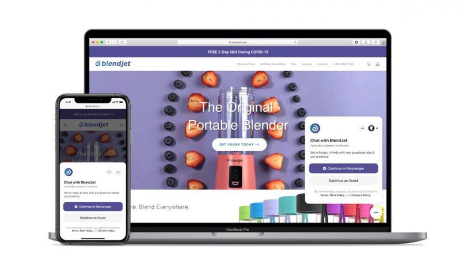 L'interface du nouveau plugin de discussion Messenger