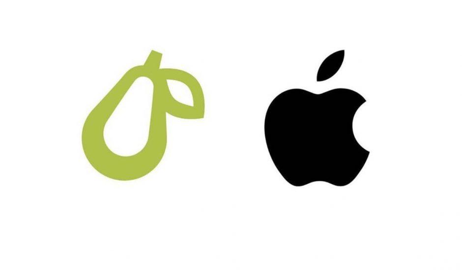 Le logo de poire de Prepear aux côtés du logo de pomme d'Apple.