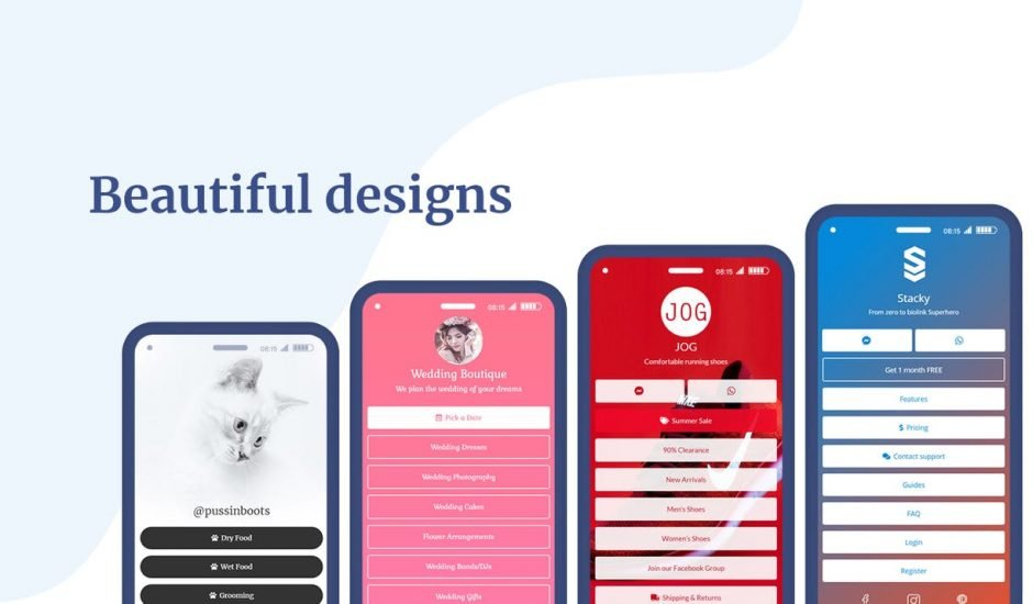 design des pages Stacky