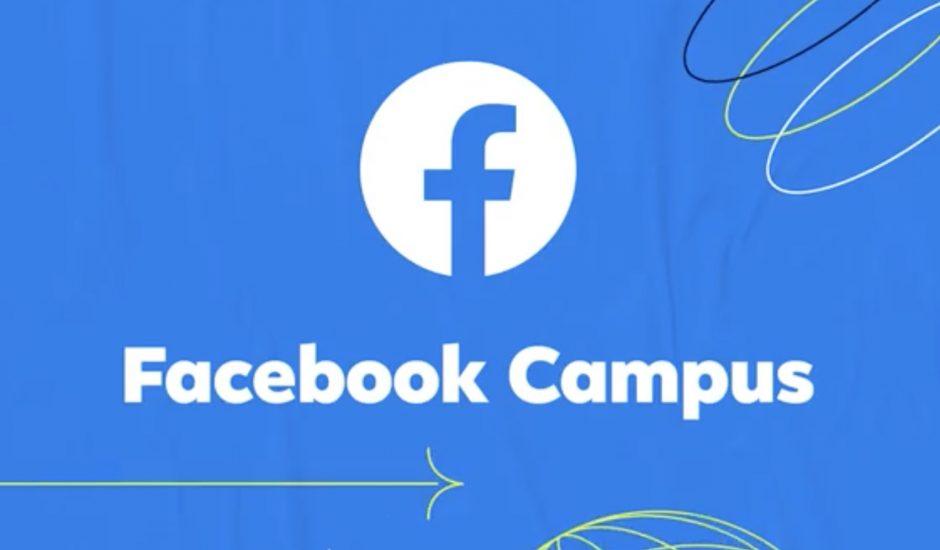 Aperçu de Facebook Campus.