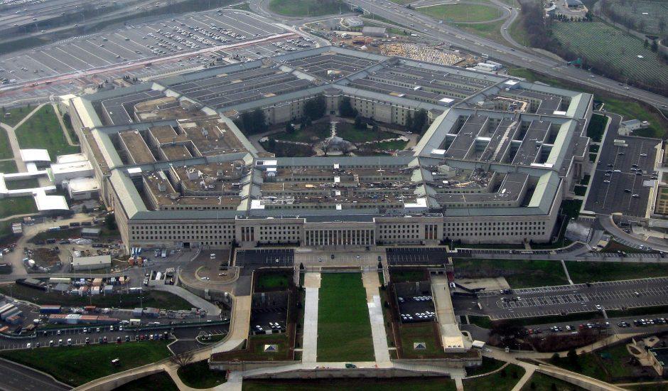 Une vue aérienne du Pentagone