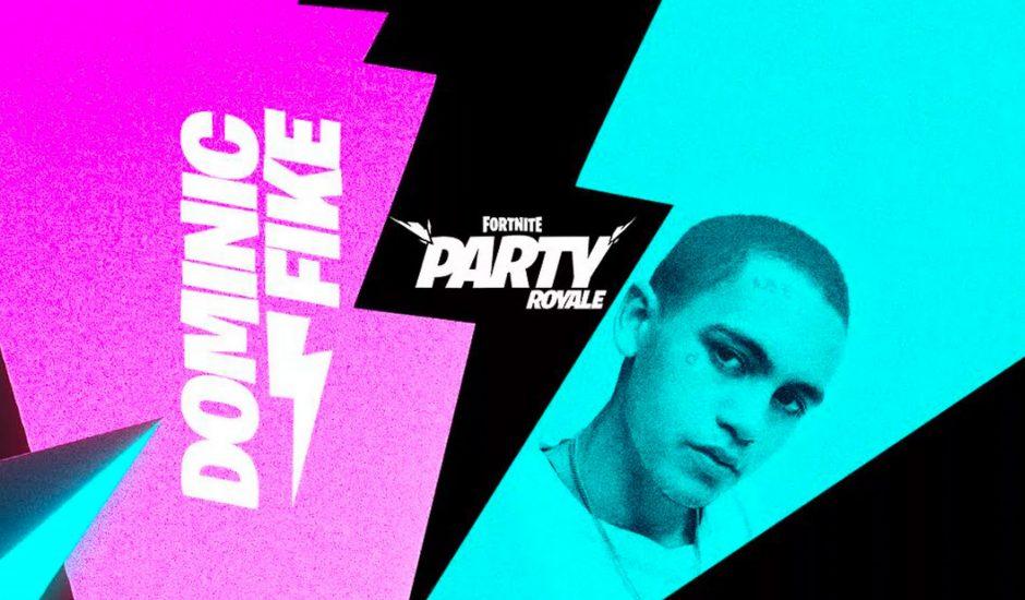 Affiche du concert de Dominic Fike sur Fortnite