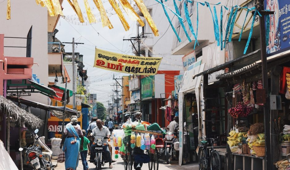 Une rue en Inde
