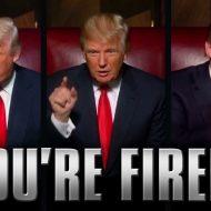 """Montage présentant Donald Trump avec le message """"you're fired"""""""