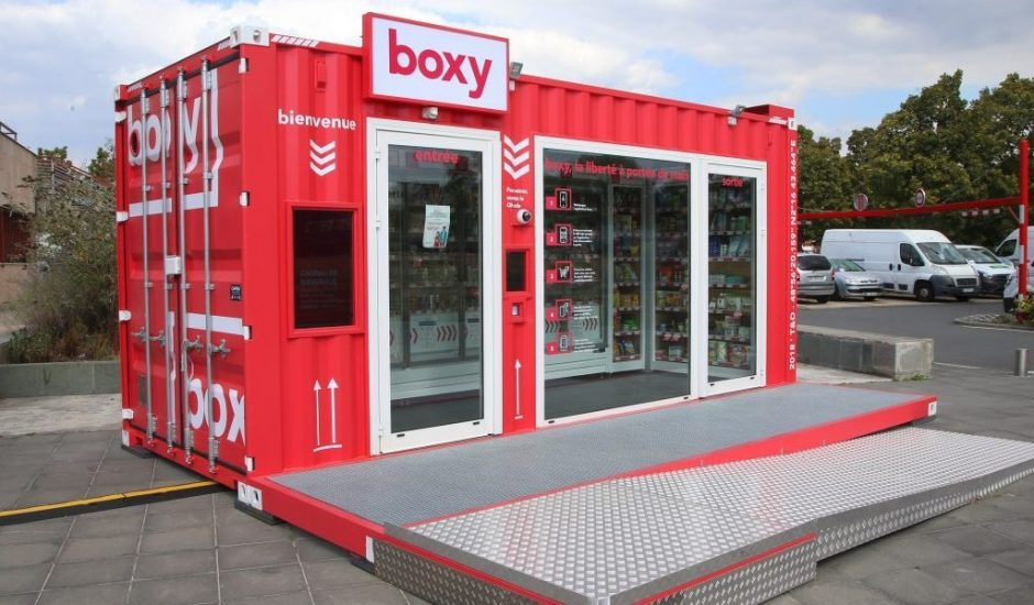 Un magasin Boxy, enseigne de Storelift
