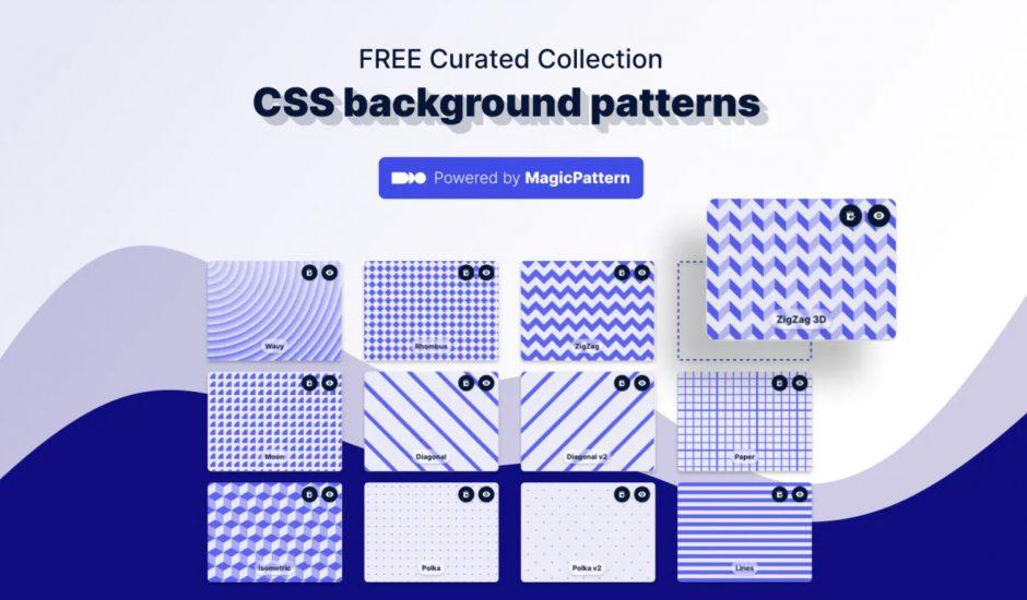 collection d'arrière-plan proposés sur CSS Background Patterns
