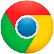 Le logo du navigateur Google Chrome.