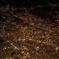 Paris vu du ciel la nuit