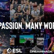 Un collage de photographies de joueurs eSport.