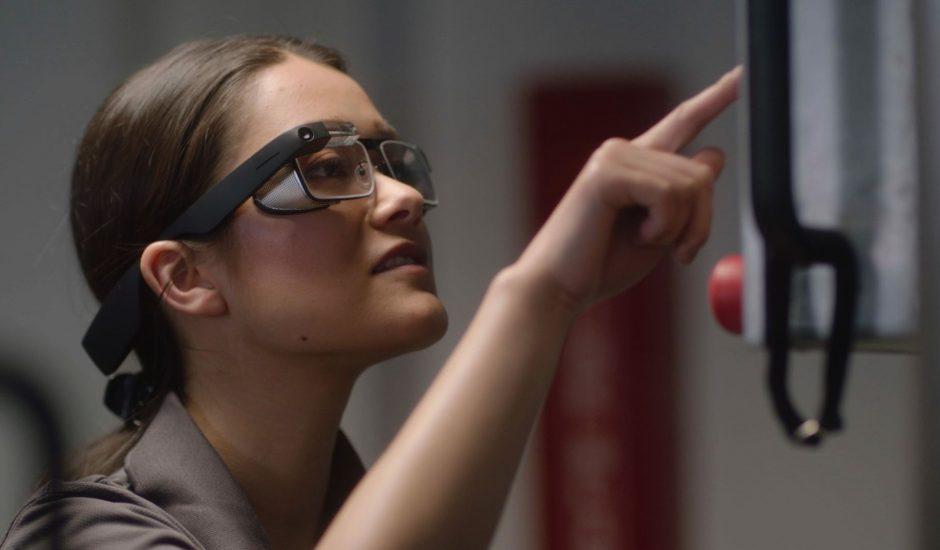 Aperçu des Google Glass.