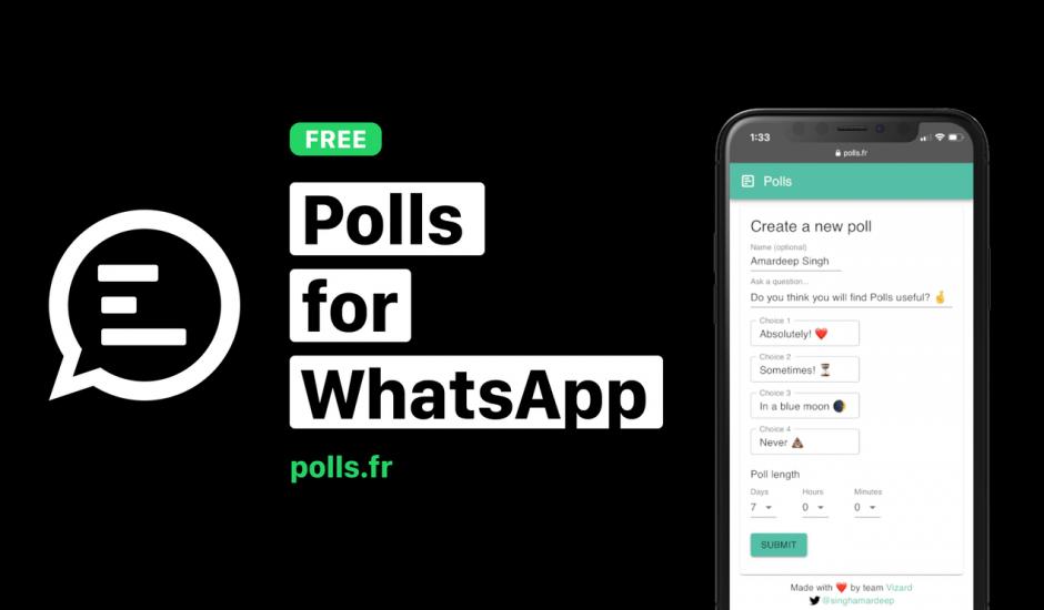 présentation de polls for whatsapp