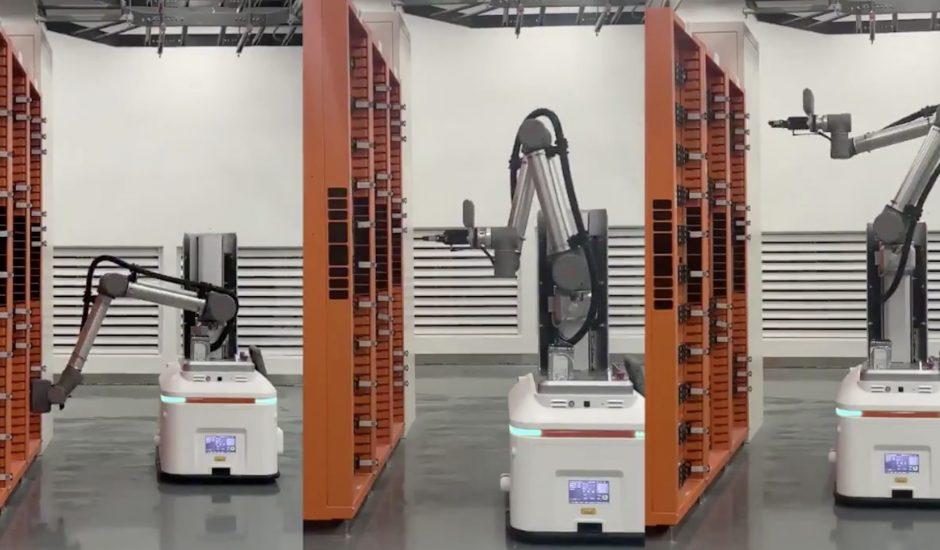 Les robots présents dans les infrastructures cloud d'Alibaba.
