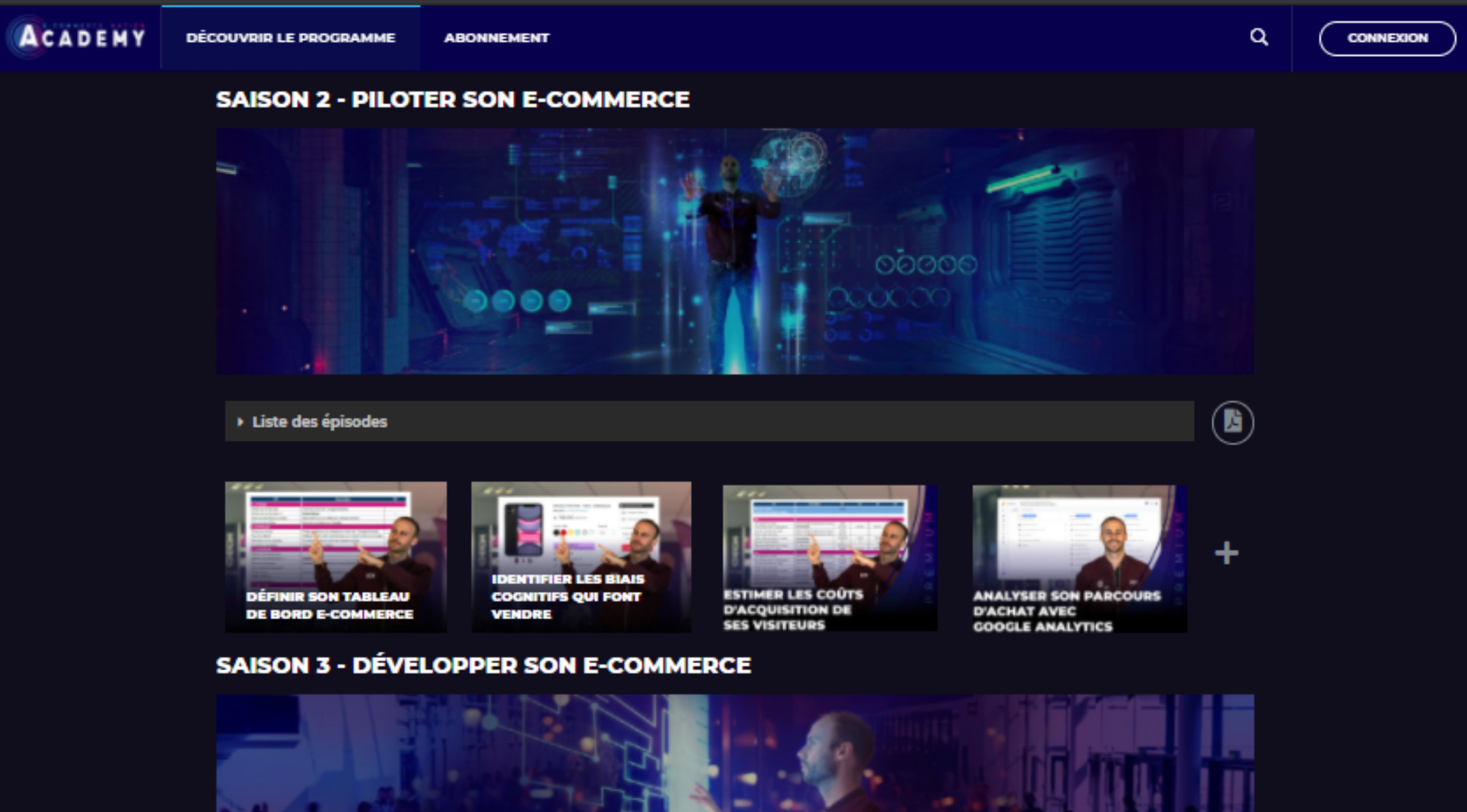 visuel e-commerce nation academy
