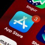 Le logo de App Store sur un iPhone.