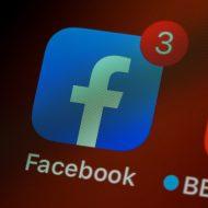 logo facebook avec notifications