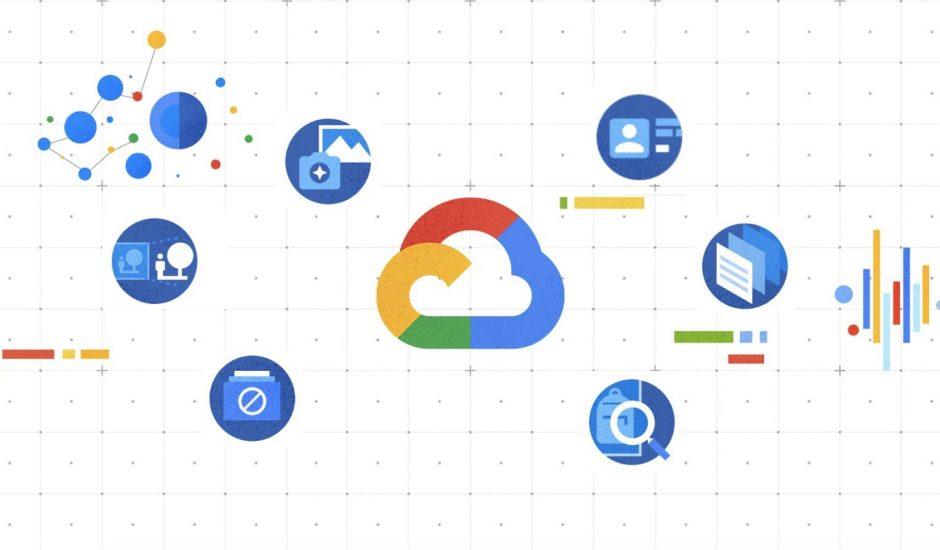 Le logo de Google Cloud et de DocAI.