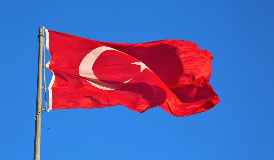 Le drapeau turque.