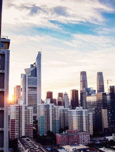 Des gratte-ciel à Pékin, en Chine.