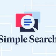 Le logo de Simple Search.