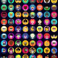 exemple d'avatars créés par le Générateur