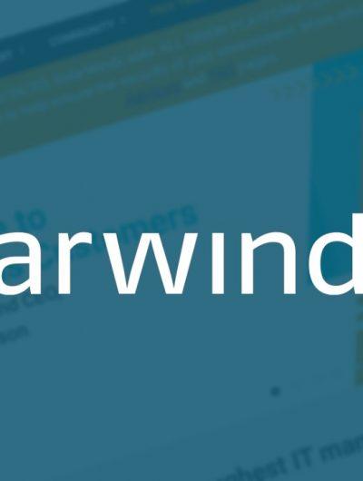 Le logo de la firme SolarWinds