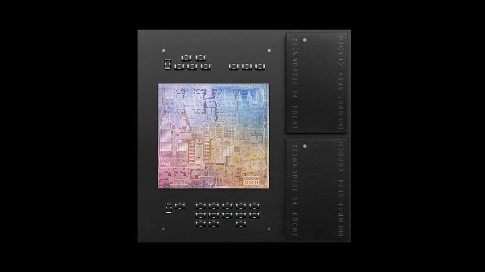 Le processeur M1 d'Apple.