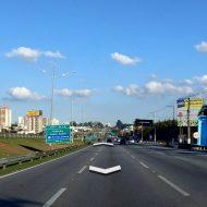 Une route visionnée avec Google Street View
