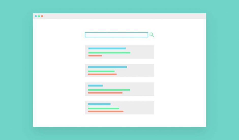 Schéma représentant un moteur de recherche.