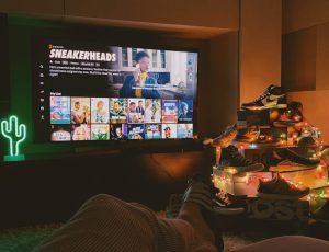 Aperçu d'un écran d'accueil Netflix.