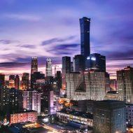 Des gratte-ciel à Pékin.