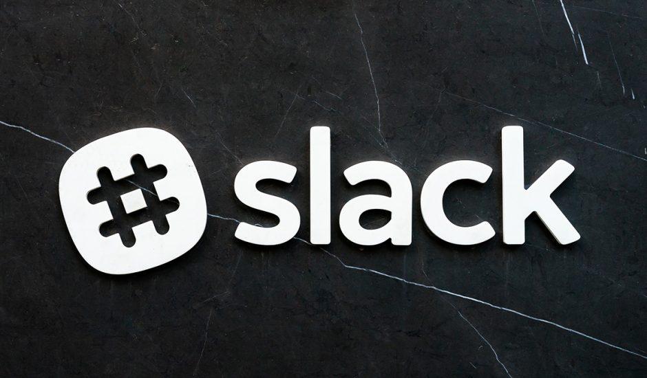 Le logo de Slack, plateforme de communication collaborative.