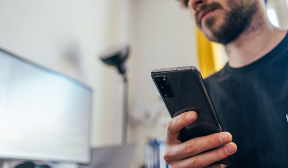 Un utilisateur mobile
