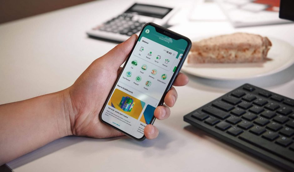 Aperçu de l'app Grab Financial.