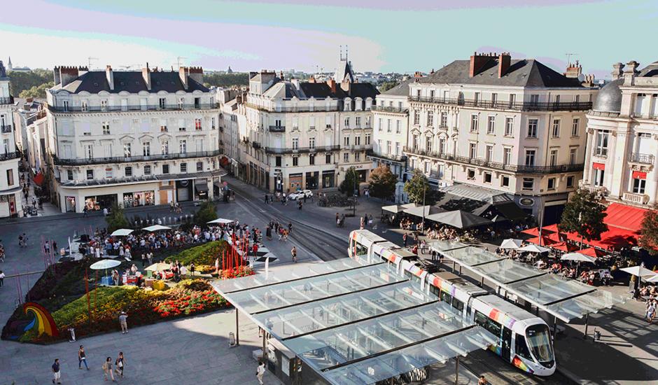 Aperçu de la ville d'Angers.