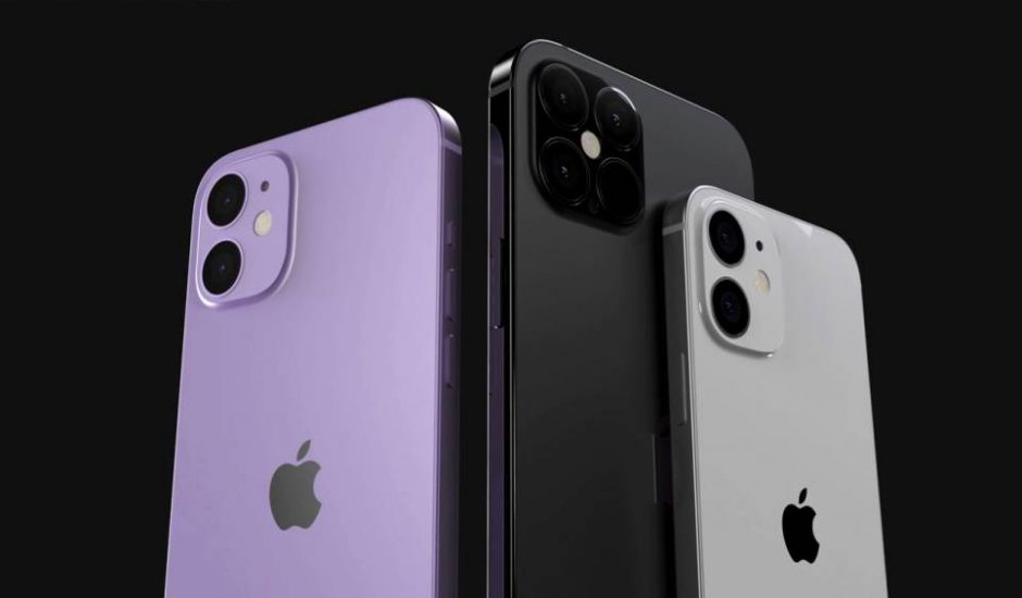 Les trois modèles d'iPhone 12