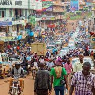 Aperçu d'une ville ougandaise.