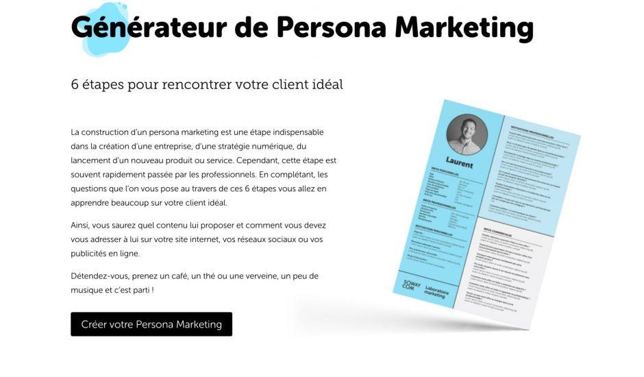 créer persona marketing