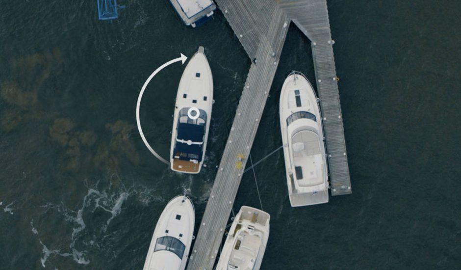 La technologie Assisted Docking de Volvo Penta aide les capitaine à accoster leur bateau.