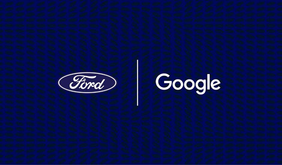 Aperçu de l'illustration du partenariat entre Ford et Google.