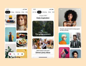 Image d'écrans de Pinterest