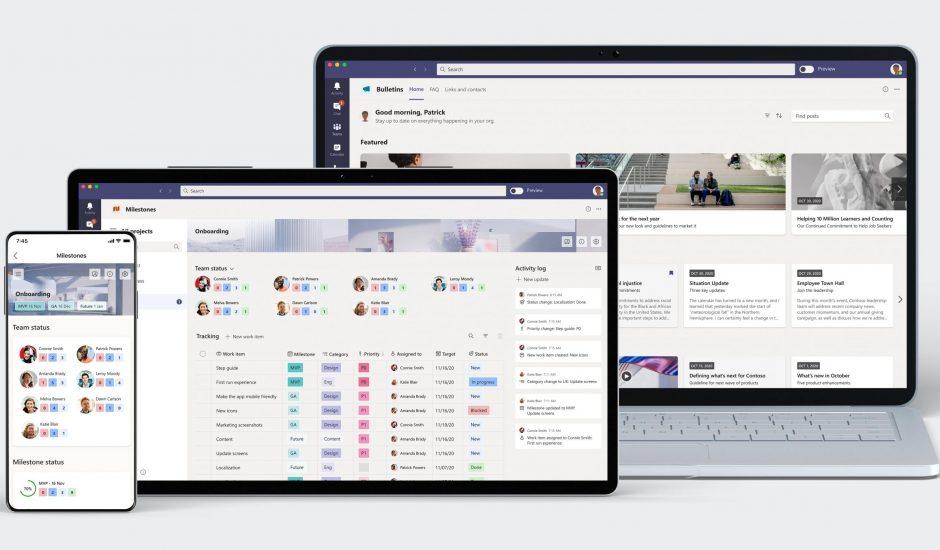 Bulletins et Milestones sur 3 différents devices