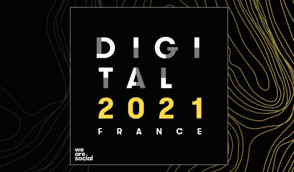 Aperçu de l'illustration du Digital Report 2021.