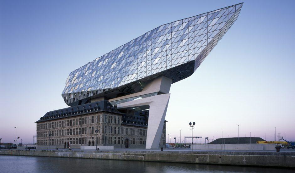 Aperçu du port d'Anvers.
