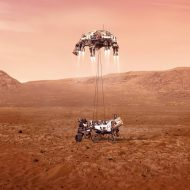 L'atterrissage de Perseverance sur Mars.
