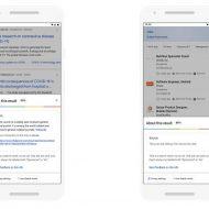 Deux captures d'écran montrant comment fonctionne le nouvel outil de Google.
