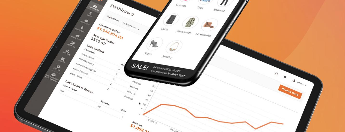 Une boutique en ligne headless gérée avec Magento