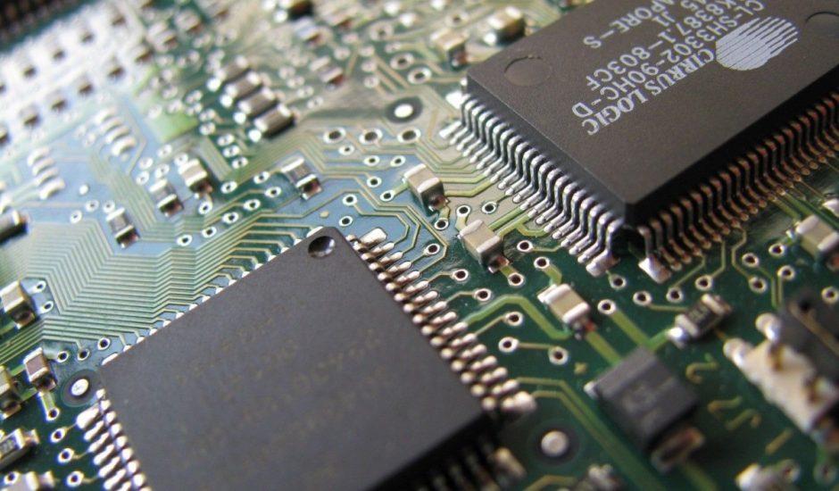 Une puce électronique.