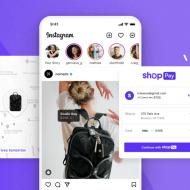 Illustration de l'utilisation de Shop Pay de Shopify dans Instagram