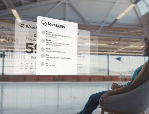 Démonstration de l'interface en réalité augmentée créée par Facebook et contrôlée depuis un bracelet connecté