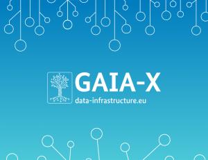 Image du logo de Gaia X. Dès décembre 2021, l'association européenne Gaia-X commencera à délivrer des labels.